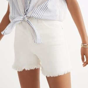 Madewell The Perfect Jean Short in Tile White 24